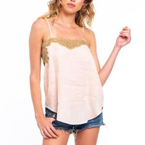 Mes Demoiselles Blush Nacre Top NWT